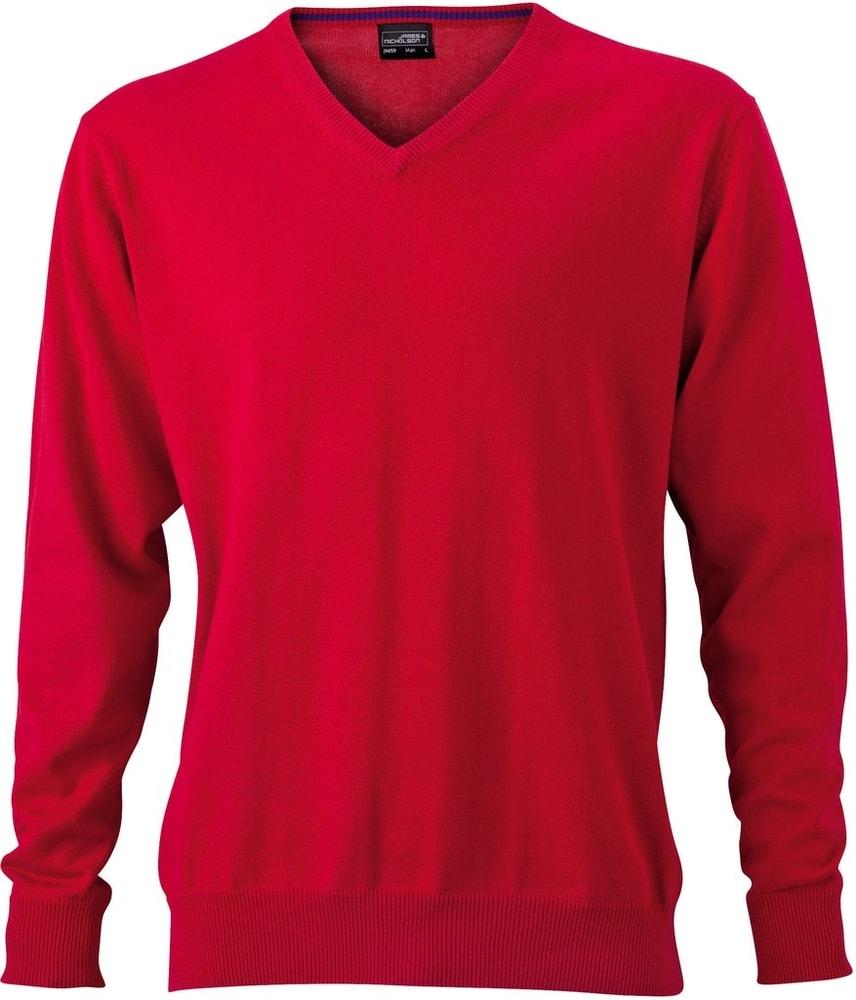 Pánský bavlněný svetr JN659 - Červená | XXL