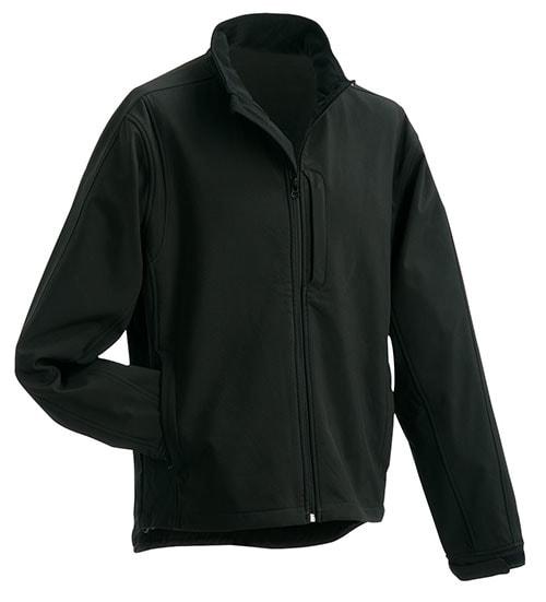 Pánská softshellová bunda JN135 - Černá | XXXXL