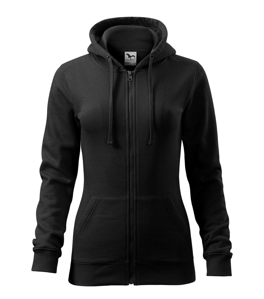 Adler Dámska mikina Trendy Zipper - Černá | S