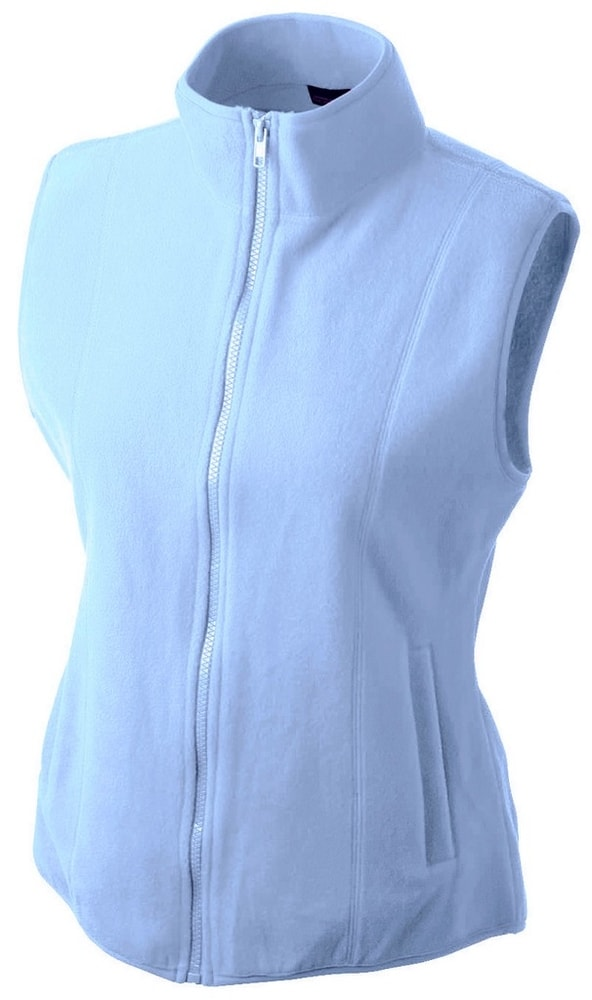 James & Nicholson Dámska fleecová vesta JN048 - Světle modrá | S