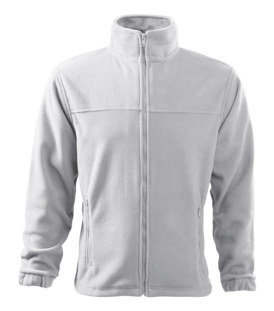 Adler (MALFINI) Pánska fleecová mikina Jacket - Bílá   XL