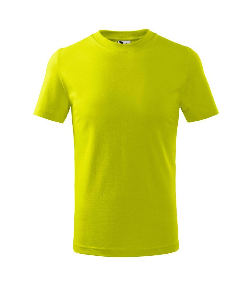 Adler (MALFINI) Detské tričko Basic - Limetková | 146 cm (10 let)