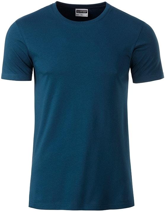 James & Nicholson Klasické pánske tričko z biobavlny 8008 - Petrolejová | XXL