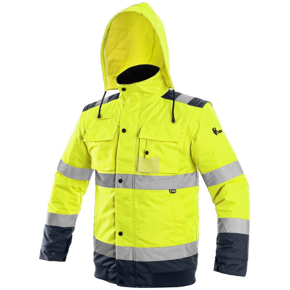 Canis Reflexná bunda 2v1 LUTON - Žlutá / tmavě modrá   XXXL