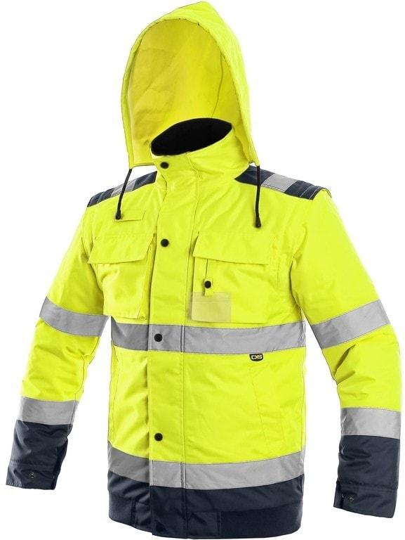 Canis Reflexná bunda 2v1 LUTON - Žlutá / tmavě modrá | XXL