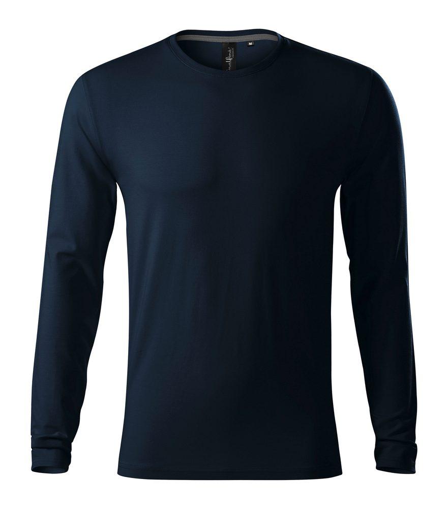 Adler (MALFINI) Pánske tričko s dlhým rukávom Brave - Námořní modrá   S