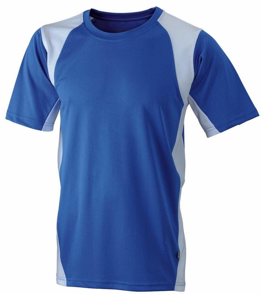 3d1b4246e2cfa ... Pánske športové tričko s krátkym rukávom JN306 Kráľovská modrá / biela