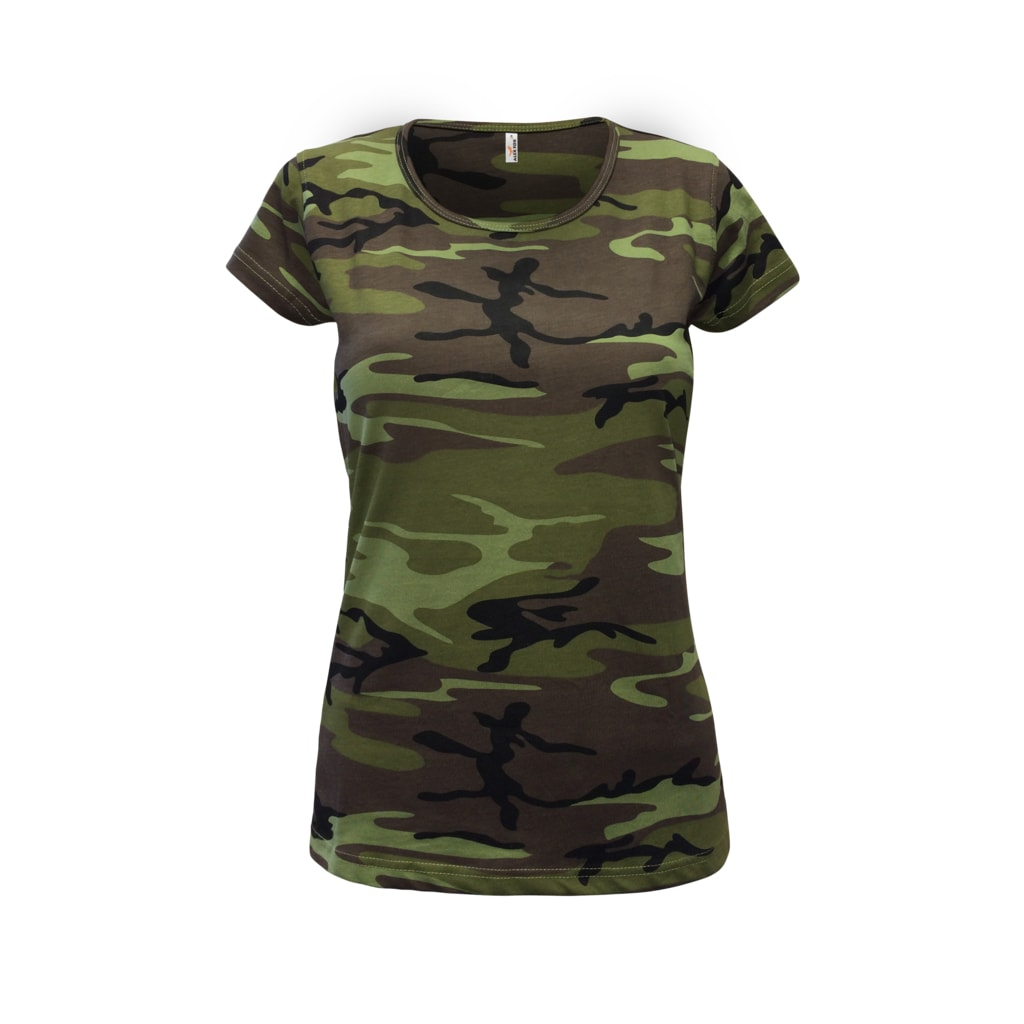 a8b19fc33a6d Dámské maskáčové tričko Camouflage - DobrýTextil.cz