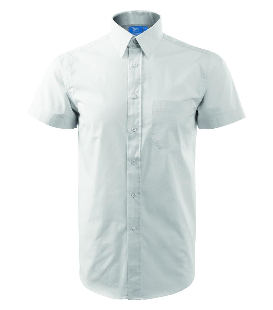 023ad9aa3def ... košeľa s krátkym rukávom Chic Biela Pánska ...
