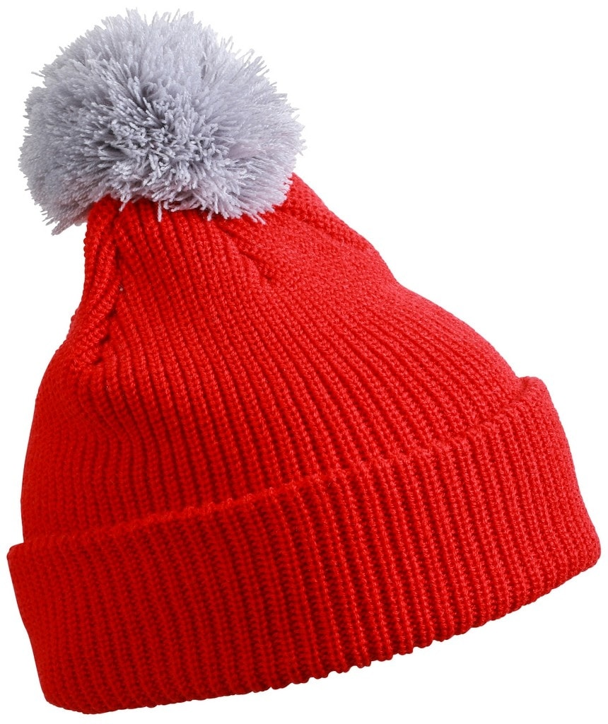 b72ee1571 Zimná čiapka s brmbolcom MB7967 (Tomato / stříbrná | uni) ...