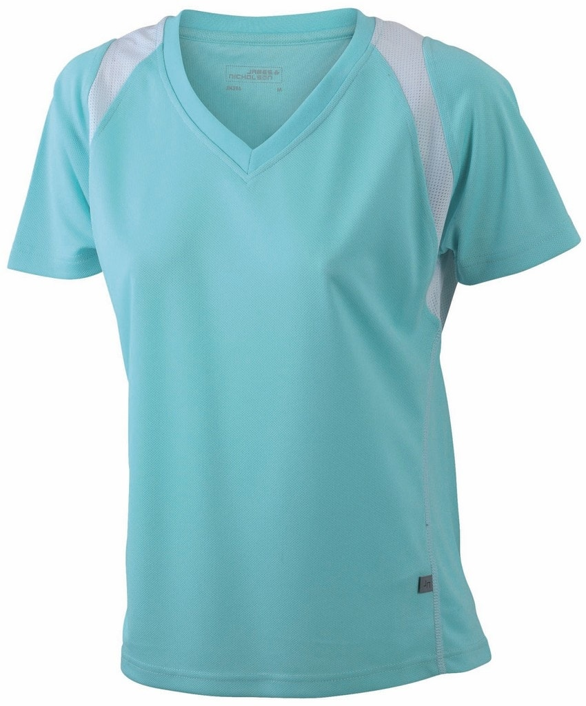 61752b86f48a ... Dámske bežecké tričko s krátkym rukávom JN396 Mätová   biela