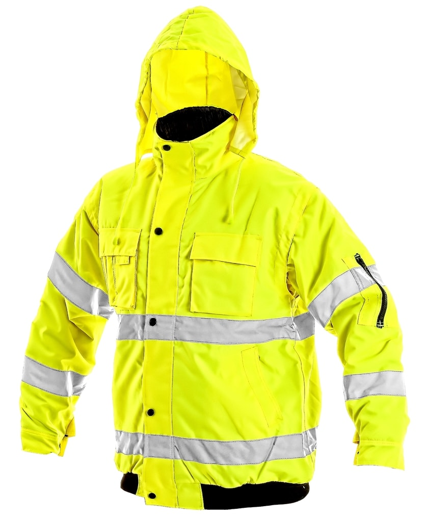 Téli fényvisszaverő kabát levehető ujjakkal LEEDS Bontis.hu