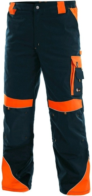 8e25802326b4 ... Pracovné nohavice SIRIUS BRIGHTON Tmavě modrá   oranžová