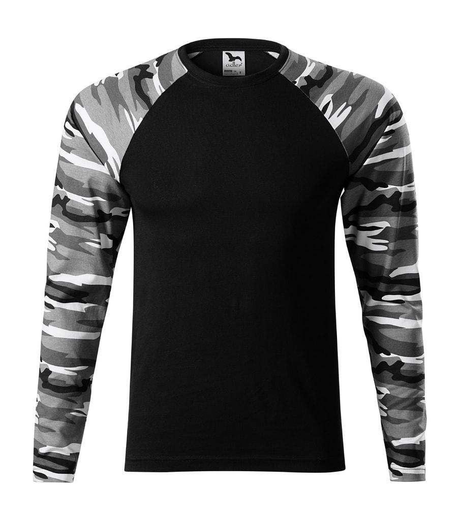 b75641908f57 ... tričko s dlouhým rukávem Camouflage LS Maskáčová šedá