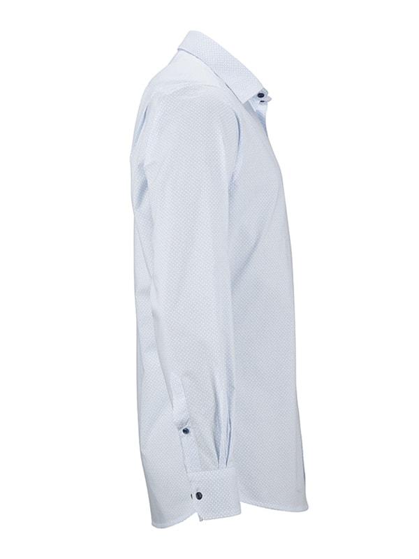 1fbd37620c40 Pánska luxusná košeľa Diamonds JN670 Bílá   světle modrá