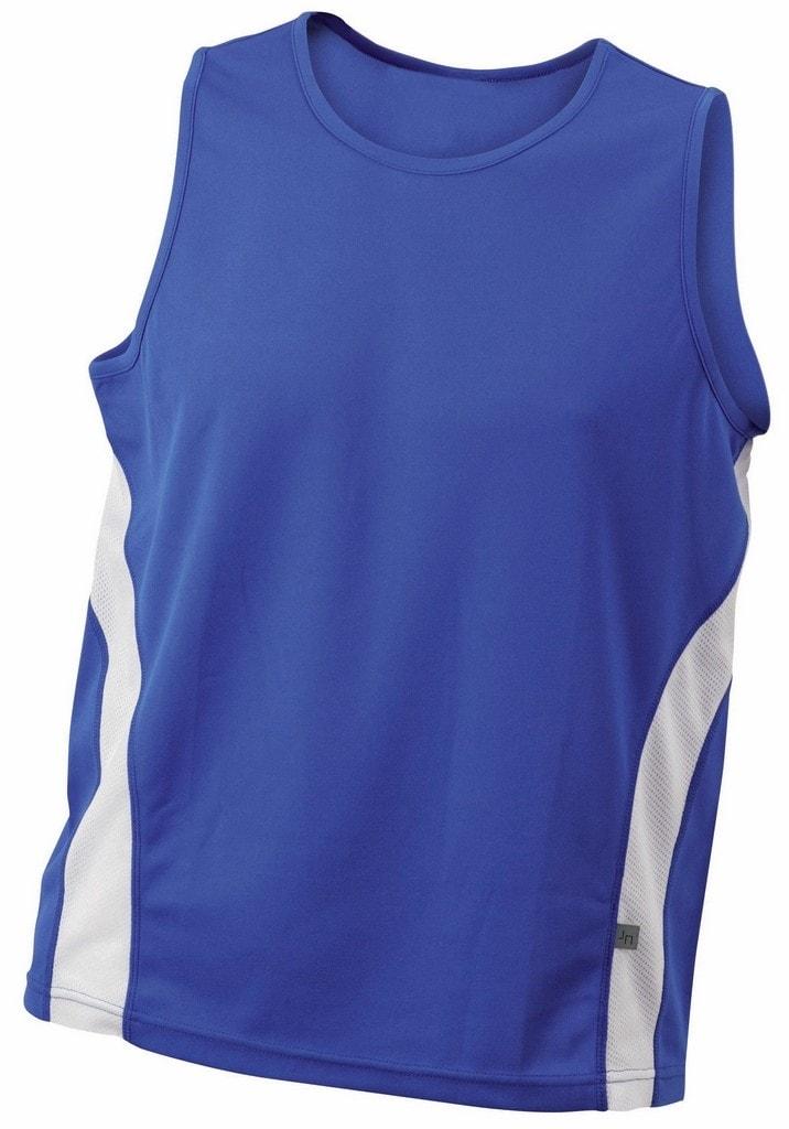87ce92b98b02 ... Pánske športové tričko bez rukávov JN305 Kráľovská modrá   biela