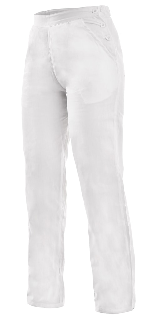 4e203bf010a8 Dámske biele pracovné nohavice DARJA 190 - DobrýTextil.sk