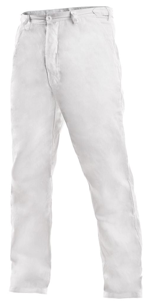 f186299100e1 Pánske biele pracovné nohavice ARTUR - DobrýTextil.sk