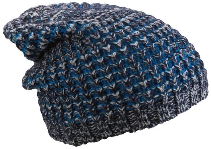8d7c91809 Hrubo pletená čiapka MB7973 (Tmavě modrý melír / azurová | uni)