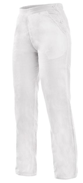 4841d7ccef9b Dámske biele pracovné nohavice DARJA 190 - DobrýTextil.sk