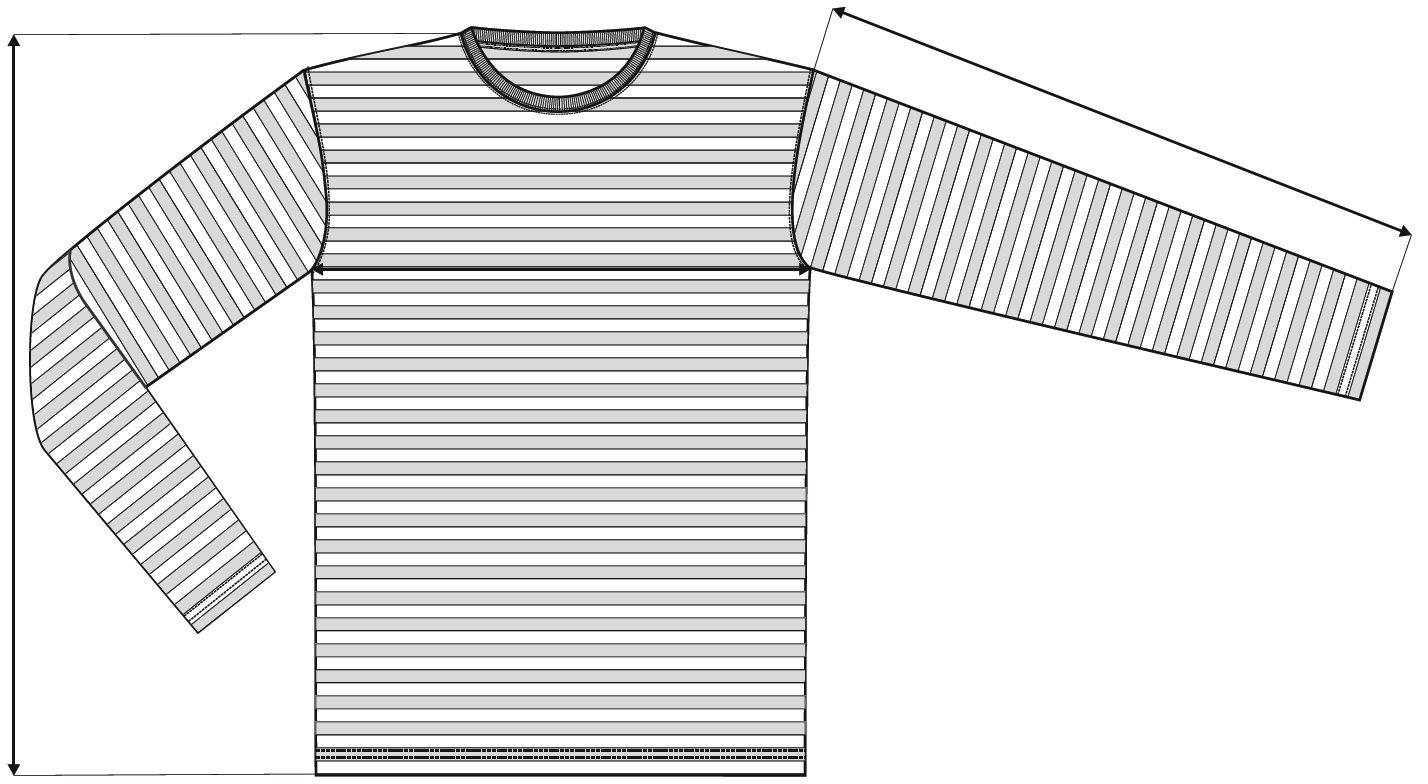 Měření trička Sailor