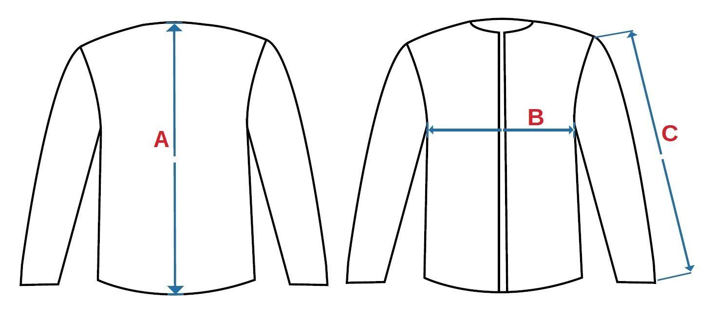 Měření dámský softshellový kabát Orleans