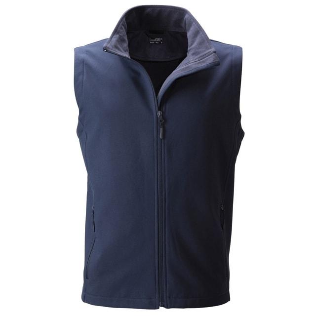 19c17cbe91ec Pánska softshellová vesta JN1128 (Tmavě modrá   tmavě modrá