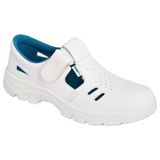 13ad7bd1b64c7 Biele pracovné sandále s oceľovou špicou | Pracovná obuv biela ...