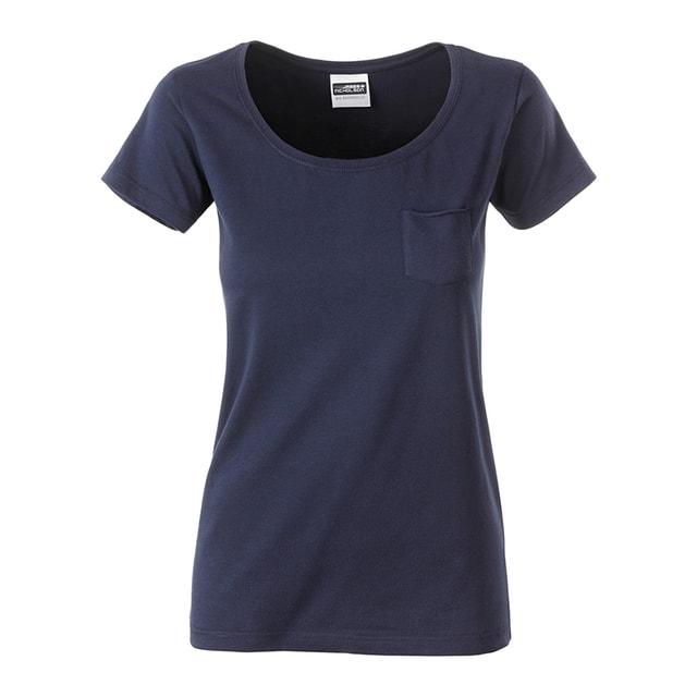 d92411eb2d9e Dámské tričko z biobavlny 8003 (Tmavě modrá