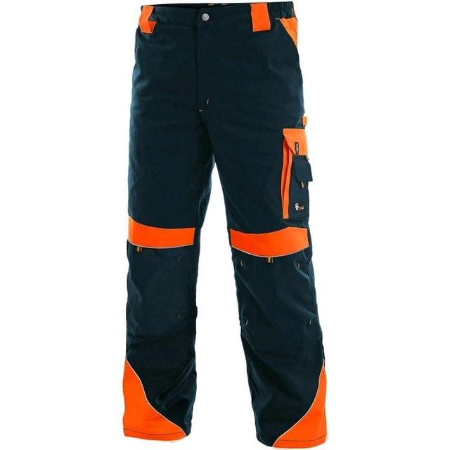 955a7013c1a5 Pracovné nohavice SIRIUS BRIGHTON (Tmavě modrá   oranžová