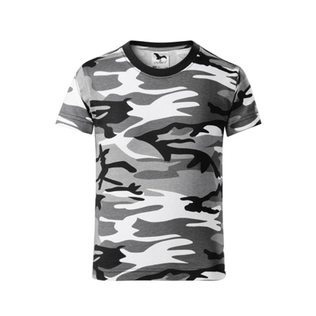 bdb182771b444 Detské maskáčové tričko Camouflage (Maskáčová šedá | 110 cm (4 roky))