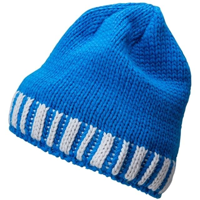 0d645be8f Pletená pánska zimná čiapka MB7106 (Kobaltová / stříbrná)