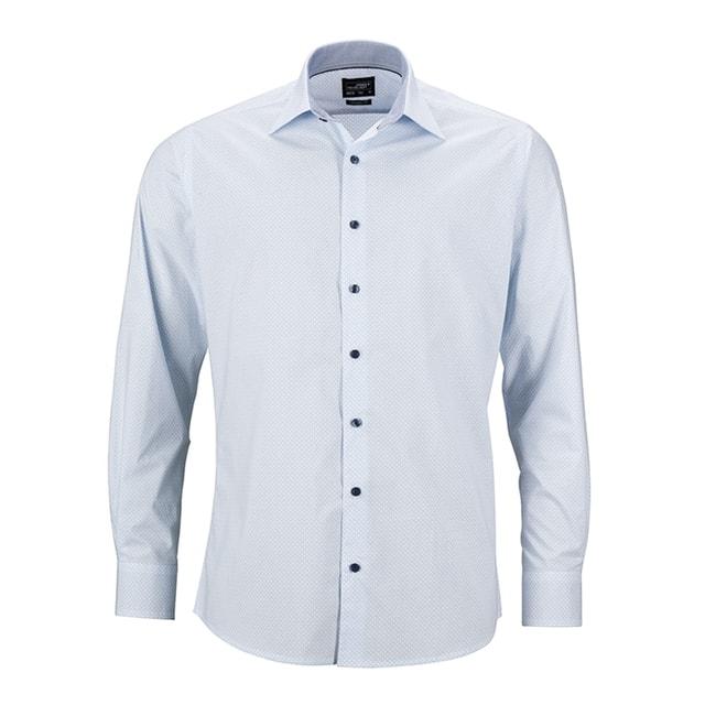 1ddceac9a94b Pánska luxusná košeľa Diamonds JN670 (Bílá   světle modrá