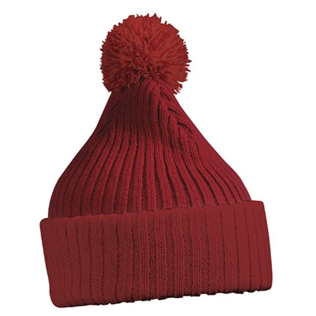 0bd52a428 Dámska pletená čiapka s brmbolcom - DobrýTextil.sk