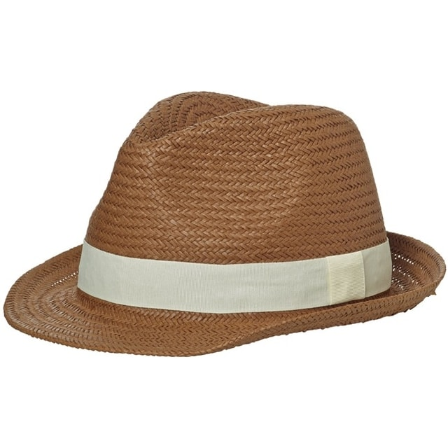 72085828d Letný klobúk MB6597 (Nugátová / šedo-bílá | L/XL)