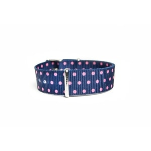 Curea din nailon Silver Pink Dots