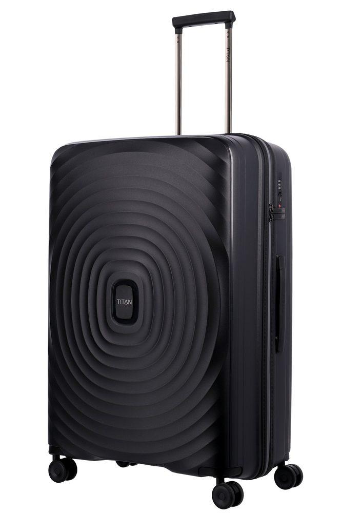 Titan Skořepinový cestovní kufr Looping L Black 105 l