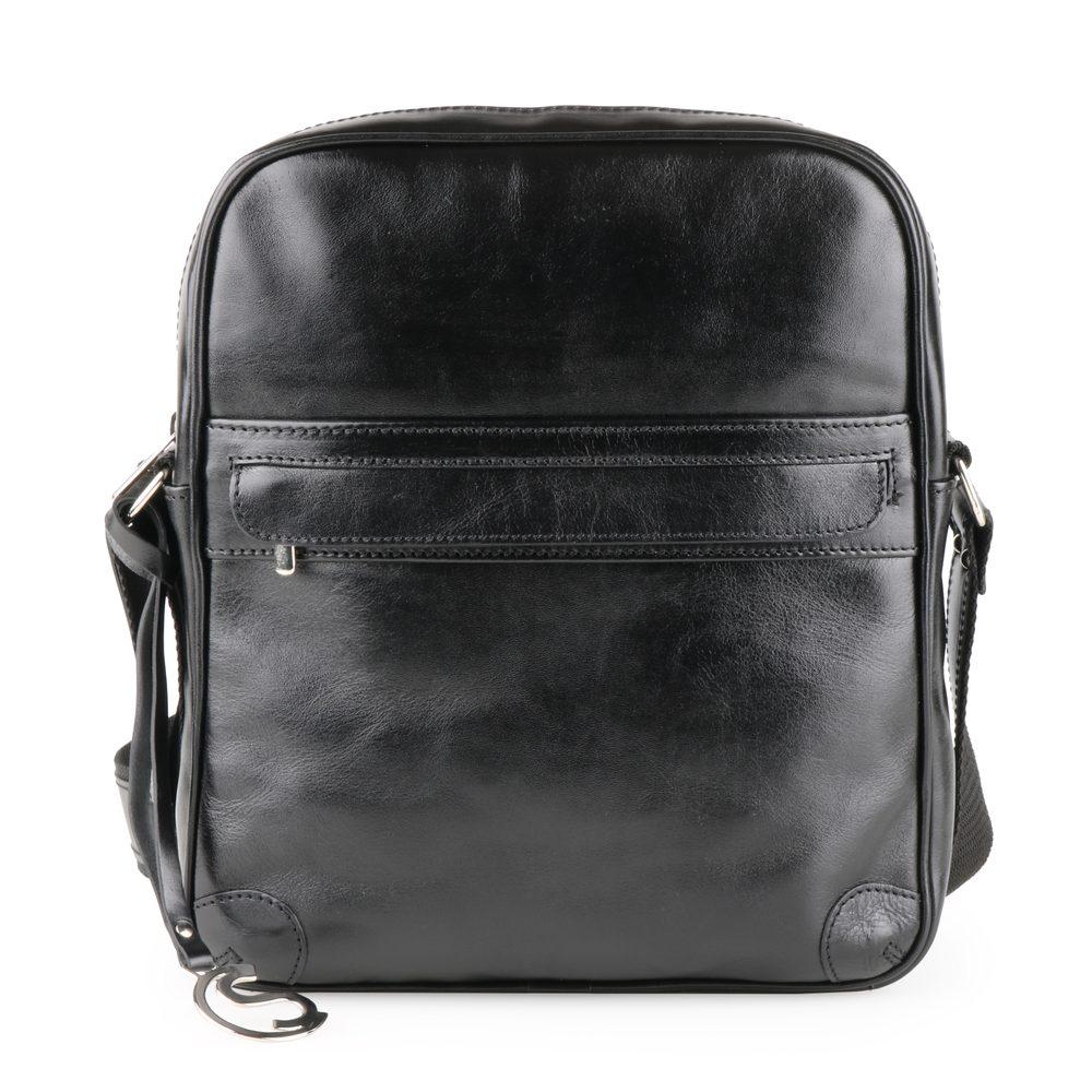 Sněžka Náchod Pánská kožená crossbody taška 4973 - černá