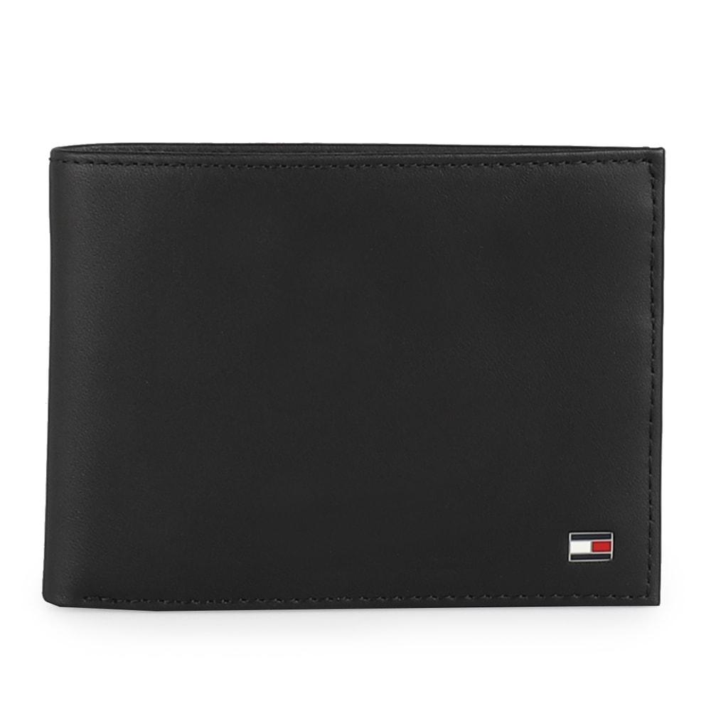 Tommy Hilfiger Pánská kožená peněženka Eton Cc Flap And Coin AM0AM00652 - černá