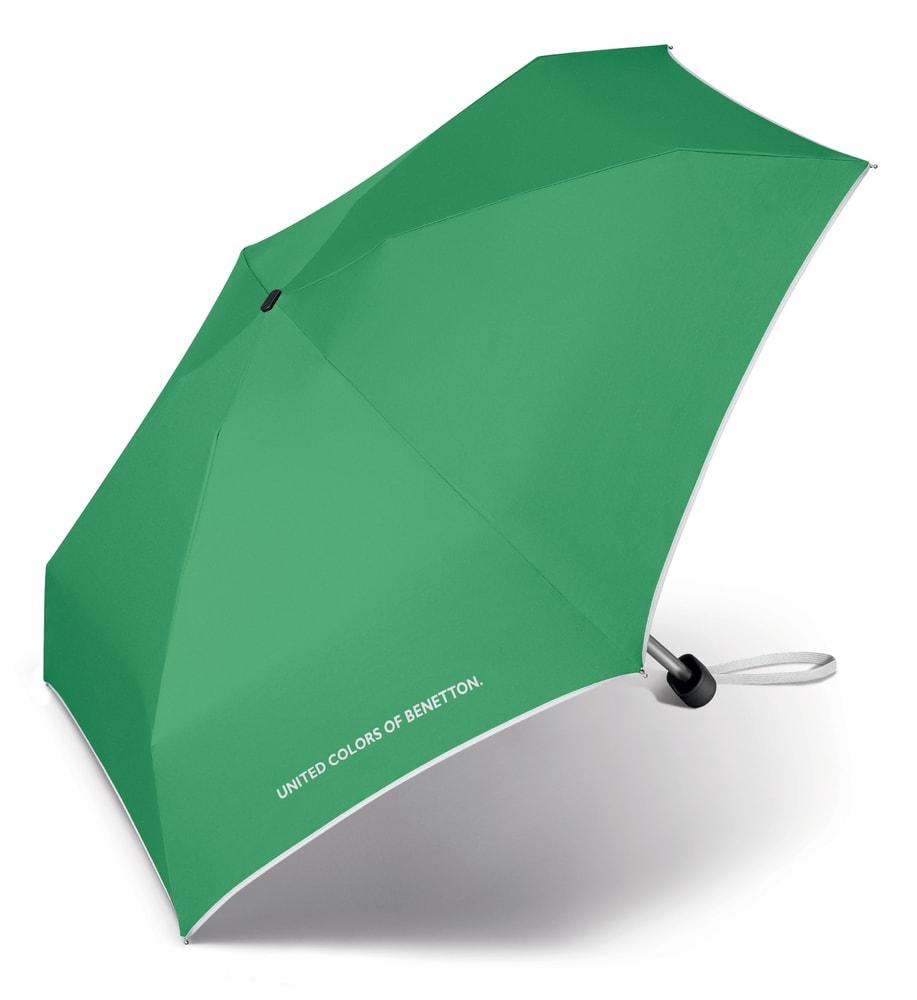 United Colors of Benetton Malý skládací deštník 56404 - zelená