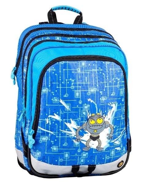 Bagmaster Klučičí školní batoh pro prvňáčky S1A 0114 C BLUE 17 l