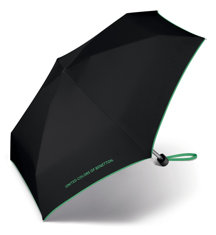 United Colors of Benetton Malý skládací deštník 56404 - černá