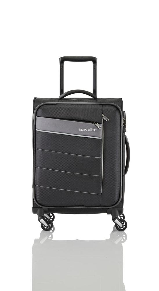 Travelite Cestovní kufr Kite 4w M Black 89948-01 67/77 l