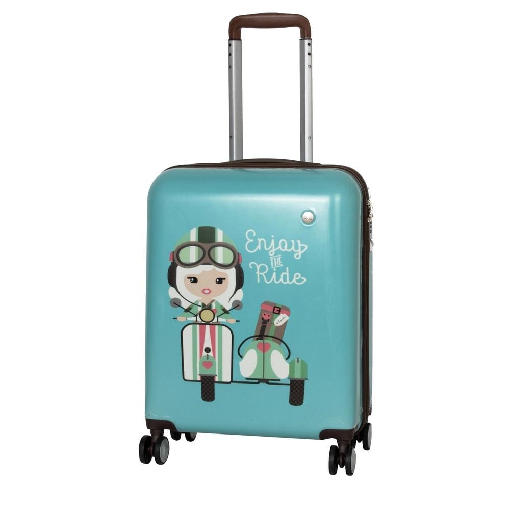 Travelite Kabinový cestovní kufr Lil' Ledy 4w S hardcase Turquoise 38 l