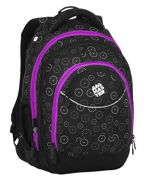 Bagmaster Studentský batoh ENERGY 8 C BLACK/GRAY/PINK 23 l