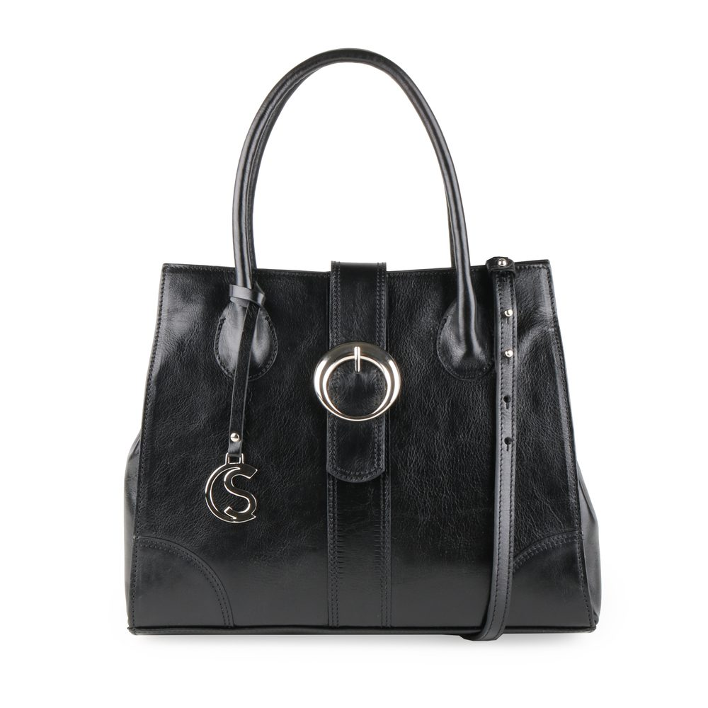 Sněžka Náchod Dámská kožená kabelka do ruky 5068 - černá