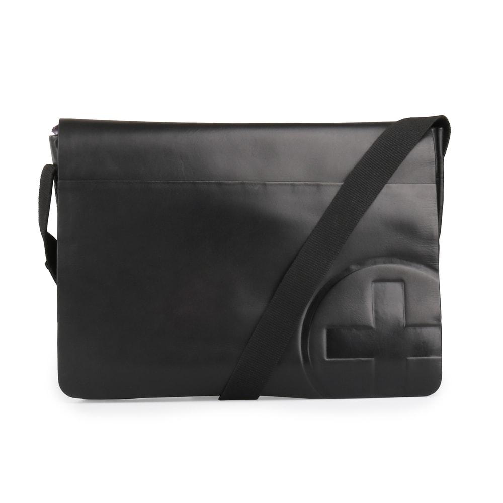 Strellson Pánská kožená taška přes rameno Jones 4010002362 - černá