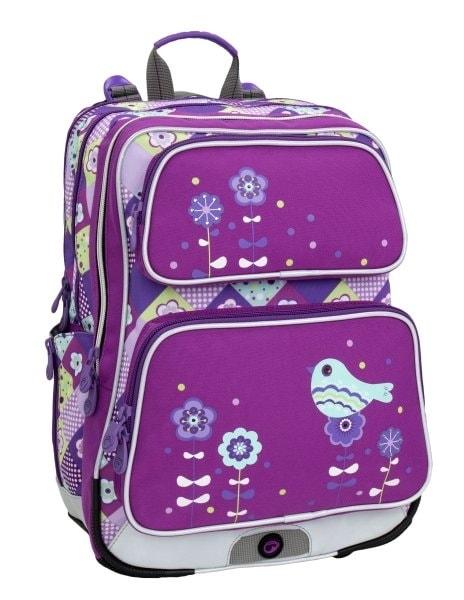 Bagmaster Holčičí školní batoh do první třídy GALAXY 6 17 l