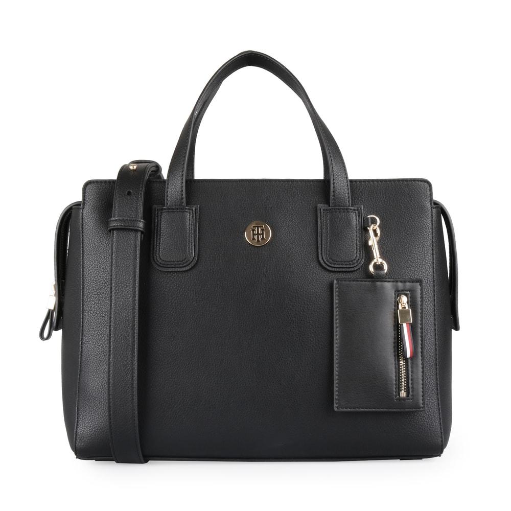 Tommy Hilfiger Dámská kabelka do ruky Charming Tommy AW0AW07311 - černá