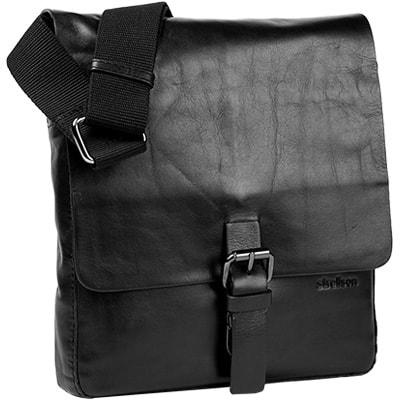Strellson Pánská kožená taška 4010001286, černá